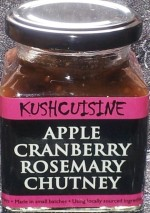 Apple Cranberry Rosemary Chutney